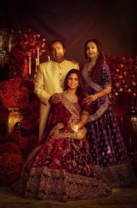 Indian celebrities' wedding;Isha Mehta and Anand Ambani wedding