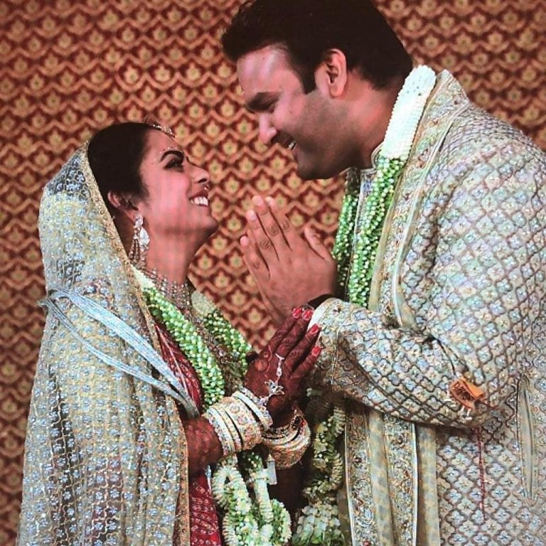 Indian celebrities' wedding: Isha Mehta and Anand Ambani wedding