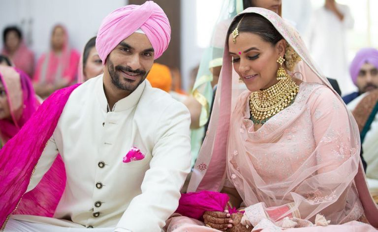 Indian celebrities' wedding: Neha Dhupia and Angad Bedi wedding